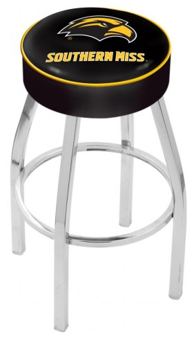 """Southern Mississippi Golden Eagles 4"""" Cushion Seat with Chrome Base Swivel Barstool"""