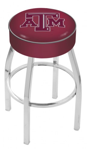 "Texas A&M Aggies 4"" Cushion Seat with Chrome Base Swivel Barstool"