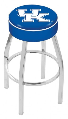 "Kentucky Wildcats NCAA 4"" Seat with Chrome Base Swivel Barstool"