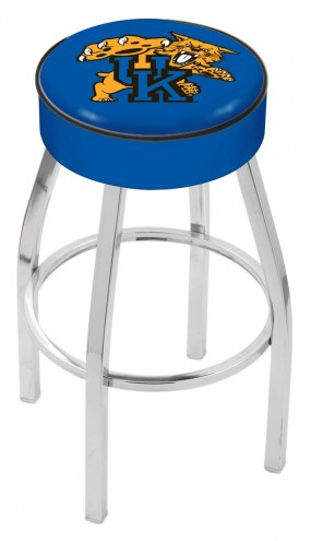 "Kentucky Wildcats 4"" Cushion Seat with Chrome Base Swivel Barstool"