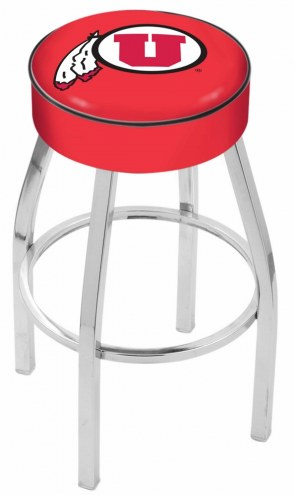 "Utah Utes 4"" Cushion Seat with Chrome Base Swivel Barstool"
