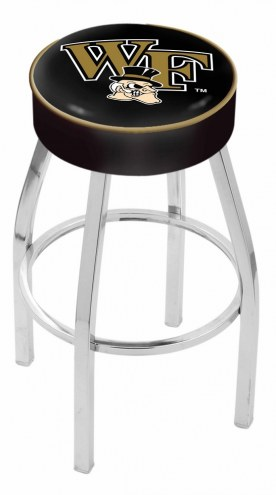 "Wake Forest Demon Deacons 4"" Cushion Seat with Chrome Base Swivel Barstool"