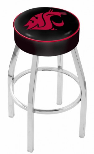 "Washington State Cougars 4"" Cushion Seat with Chrome Base Swivel Barstool"