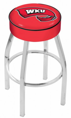 """Western Kentucky Hilltoppers 4"""" Cushion Seat with Chrome Base Swivel Barstool"""