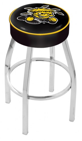 "Wichita State Shockers 4"" Cushion Seat with Chrome Base Swivel Barstool"