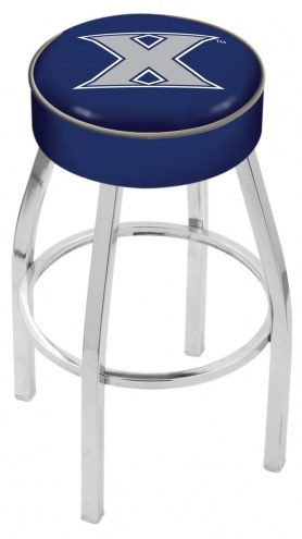 "Xavier Musketeers 4"" Cushion Seat with Chrome Base Swivel Barstool"