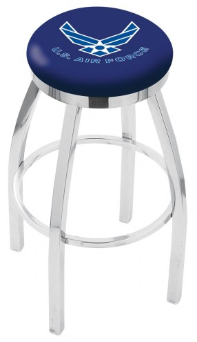 Air Force Falcons Chrome Swivel Bar Stool with Accent Ring