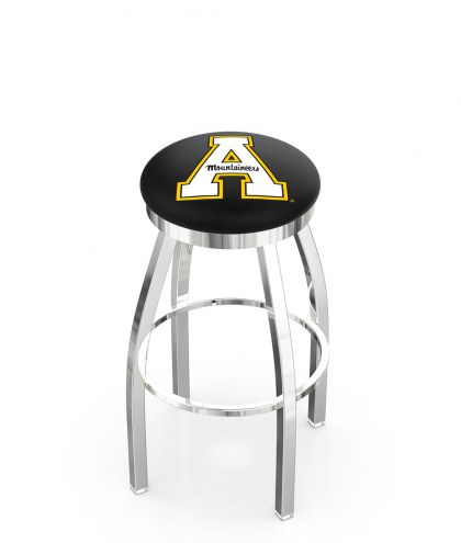 Appalachian State Mountaineers Chrome Swivel Bar Stool with Accent Ring