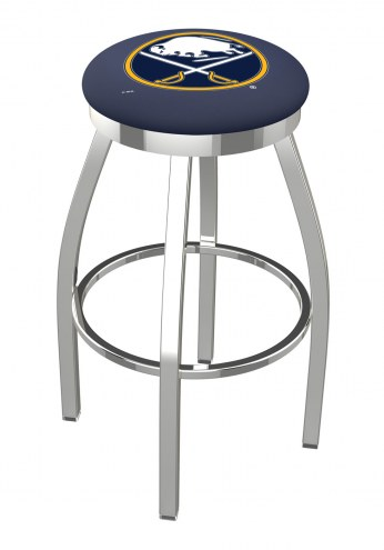 Buffalo Sabres Chrome Swivel Bar Stool with Accent Ring