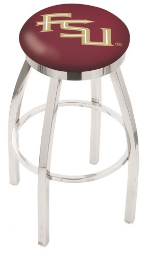 Florida State Seminoles Chrome Swivel Bar Stool with Accent Ring