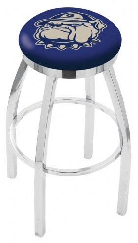 Georgetown Hoyas Chrome Swivel Bar Stool with Accent Ring