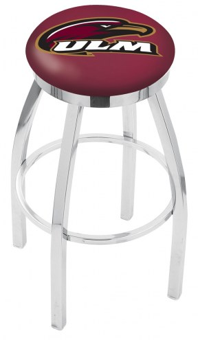 Louisiana-Monroe Warhawks Chrome Swivel Bar Stool with Accent Ring