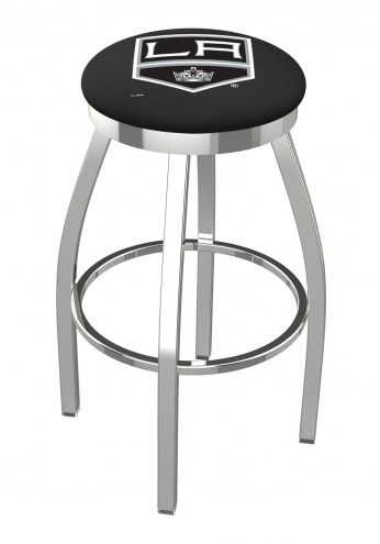 Los Angeles Kings Chrome Swivel Bar Stool with Accent Ring