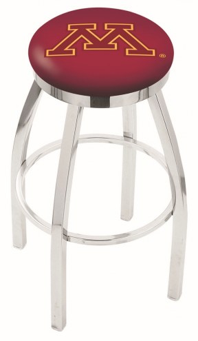 Minnesota Golden Gophers Chrome Swivel Bar Stool with Accent Ring