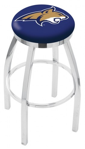 Montana State Bobcats Chrome Swivel Bar Stool with Accent Ring