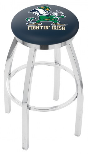 Notre Dame Fighting Irish Chrome Swivel Bar Stool with Accent Ring