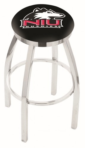 Northern Illinois Huskies Chrome Swivel Bar Stool with Accent Ring