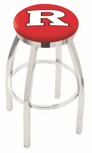 Rutgers Scarlet Knights Chrome Swivel Bar Stool with Accent Ring