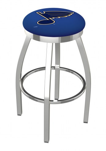 St. Louis Blues Chrome Swivel Bar Stool with Accent Ring