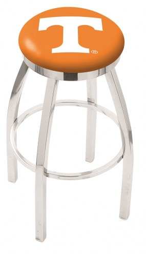 Tennessee Volunteers Chrome Swivel Bar Stool with Accent Ring