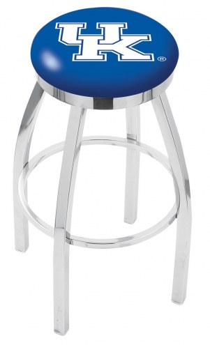 Kentucky Wildcats Chrome Swivel Bar Stool with Accent Ring