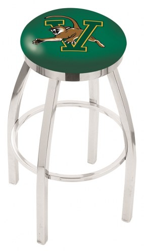 Vermont Catamounts Chrome Swivel Bar Stool with Accent Ring