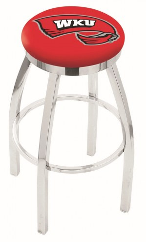 Western Kentucky Hilltoppers Chrome Swivel Bar Stool with Accent Ring