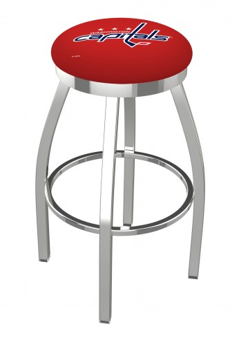 Washington Capitals Chrome Swivel Bar Stool with Accent Ring