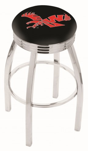 Eastern Washington Eagles Chrome Swivel Barstool with Ribbed Accent Ring
