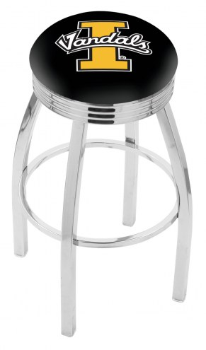 Idaho Vandals Chrome Swivel Barstool with Ribbed Accent Ring