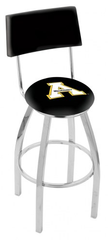 Appalachian State Mountaineers Chrome Swivel Bar Stool with Back