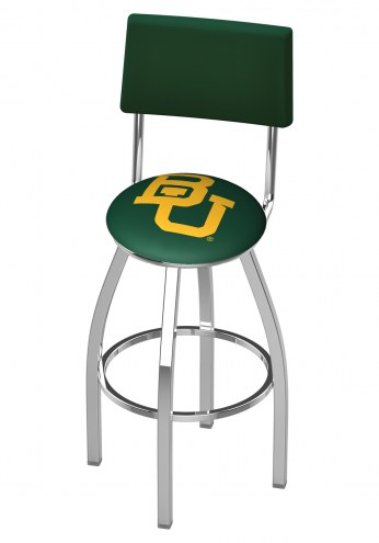 Baylor Bears Chrome Swivel Bar Stool with Back