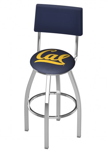 California Golden Bears Chrome Swivel Bar Stool with Back