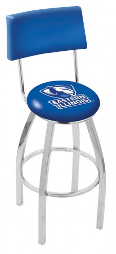 Eastern Illinois Panthers Chrome Swivel Bar Stool with Back
