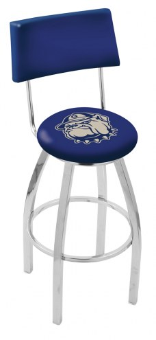 Georgetown Hoyas Chrome Swivel Bar Stool with Back