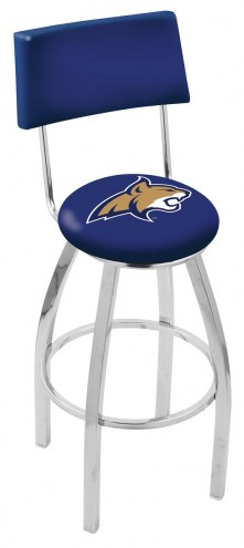 Montana State Bobcats Chrome Swivel Bar Stool with Back