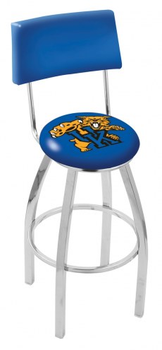 Kentucky Wildcats Chrome Swivel Bar Stool with Back