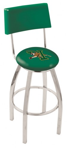 Vermont Catamounts Chrome Swivel Bar Stool with Back