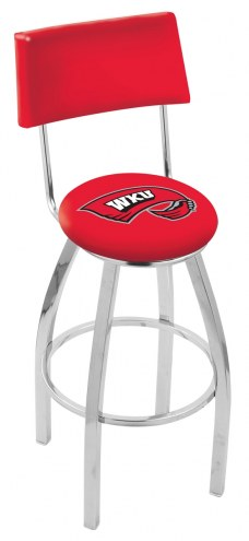 Western Kentucky Hilltoppers Chrome Swivel Bar Stool with Back