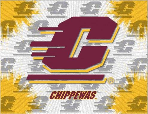 Central Michigan Chippewas Logo Canvas Print