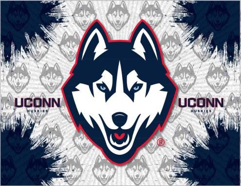 Connecticut Huskies Logo Canvas Print