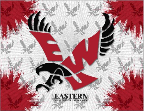 Eastern Washington Eagles Logo Canvas Print