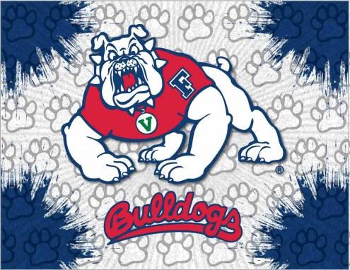 Fresno State Bulldogs Logo Canvas Print