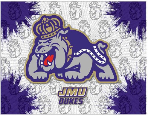 James Madison Dukes Logo Canvas Print
