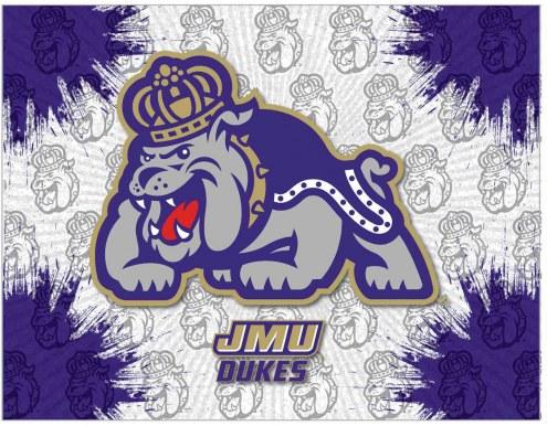 James Madison Dukes Logo Canvas Print