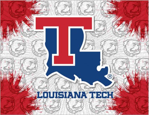 Louisiana Tech Bulldogs Logo Canvas Print