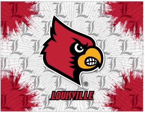 Louisville Cardinals Logo Canvas Print