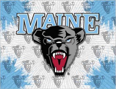 Maine Black Bears Logo Canvas Print