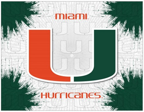 Miami Hurricanes Logo Canvas Print