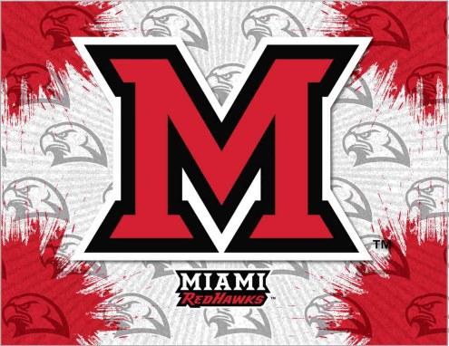 Miami of Ohio Redhawks Logo Canvas Print